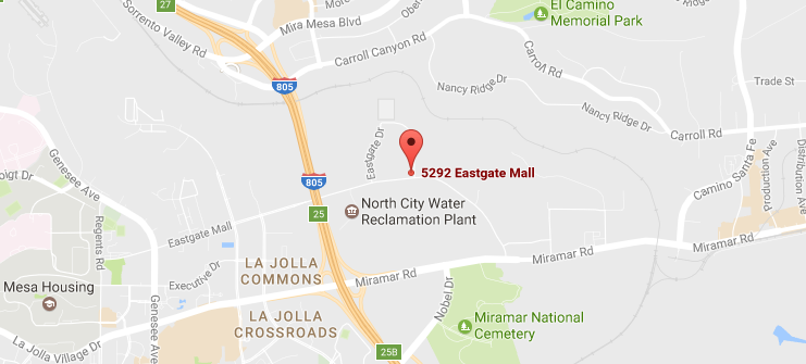 5292 Eastgate Mall Google Maps - San Diego Window Tinting and Vinyl Wrap